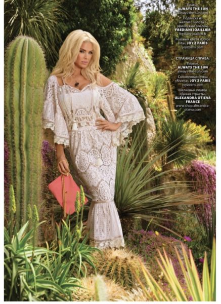 VICTORIA SILVSTEDT L'OFFICIEL MAGAZINE DRESS OCEN DRIVE OA19 18LP