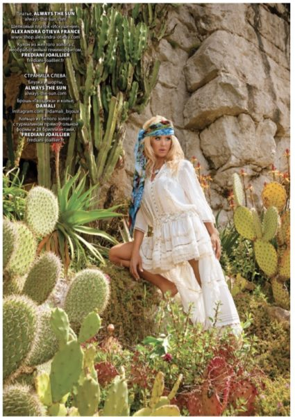 VICTORIA SILVSTEDT L'OFFICIEL MAGAZINE DRESS SELENITE OA2021OF